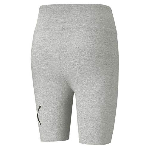 PUMA ESS 7` Logo Short Tights Mallas Deporte, Mujer, Light Gray Heather, M