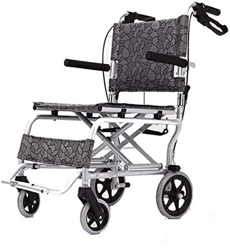 Silla de Ruedas Plegable aleación de Aluminio discapacitada sillas de Ruedas Auto-Bloqueo de Freno de Viaje Mano Scooter Botella