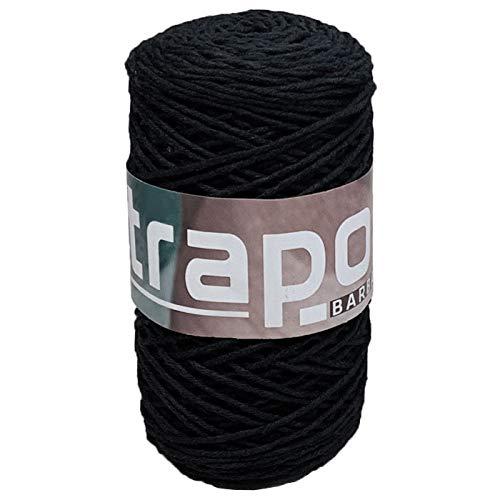 Acan Hilo barbante 255 gr 172 MT Color Negro, Ovillo Hilo algodón,...