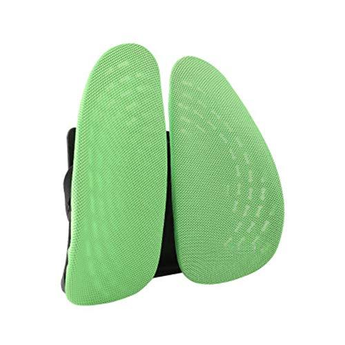 Lumbale kussenondersteuning Ergonomisch dubbel rugkussen Kan rugpijn tijdens het rijden elimineren Lumbale wervels repareren Geschikt voor kantoorstoelen-40 * 40cm_Licht groen