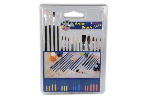 hochwertiges Pinselset 15 Pinsel verschiedene Größen + Ausführungen