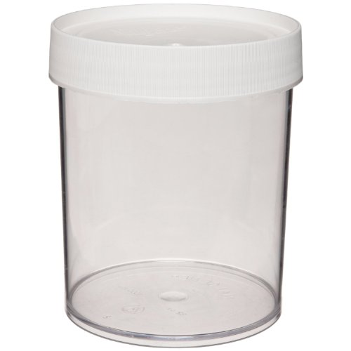 Nalgene 2116-0500 Polycarbonate 500mL Wide-Mouth Straight-Sided Jar (Pack of 4)