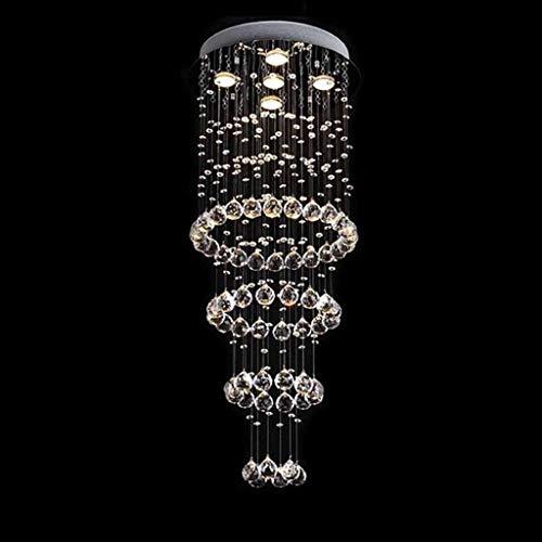 QIDOFAN Las luces del techo Luces pendientes, nuevo diseño 40 * 100cm Moderno Cristal de la lámpara de la sala de estar escalera luminarias colgantes escalera de la lámpara Luces