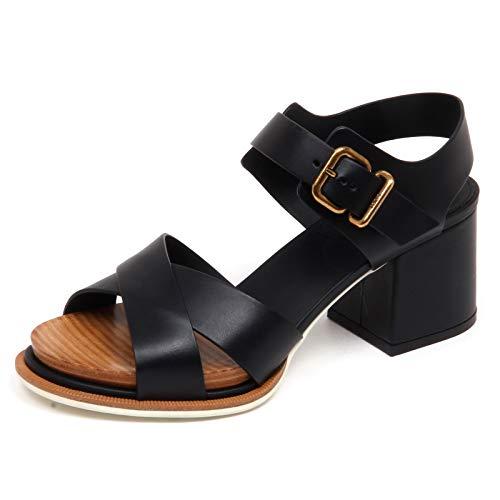 Tod's F3216 Sandalo Donna Black Scarpe Sandal Shoe Woman [36]