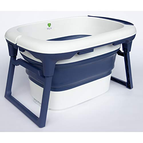 Banheira de Plástico Azul Marinho, Baby Pil, Marinho, Média