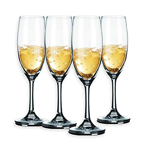 Conjunto de 4 Blanco Policarbonato 17 CL Champagne Flutes Vino Prosecco Gafas De Boda