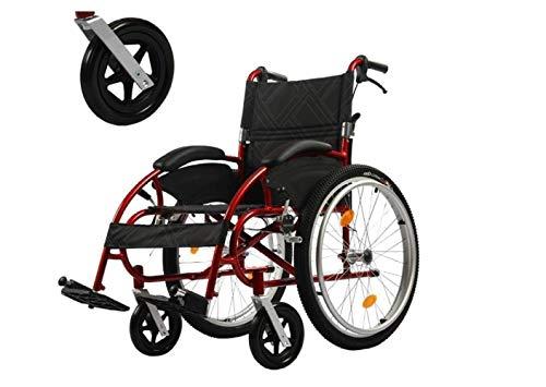 Sillas de Ruedas de Transporte para Adultos en Silla de Ruedas - Silla de Ruedas Compacta Plegable - Silla de Ruedas Ajustable - Ancianos, Discapacitados, Discapacitados,UNA,UNA