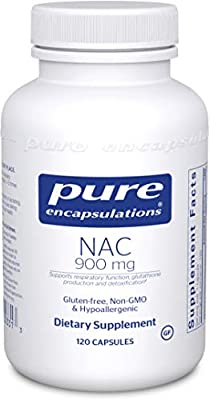 Pure Encapsulations - NAC 900 mg - Amino Acid Derivative to Support Glutathione Production and Detoxification* - 120 Capsules