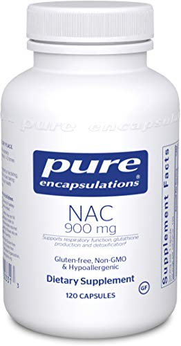 Pure Encapsulations NAC 900 mg | N-Acetyl Cysteine Amino Acid Supplement for Lung and Immune Support, Liver, Mucus Relief, Antioxidants, and Free Radicals* | 120 Capsules