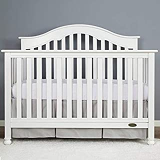 Cotton Metrics Linen 800TC 100% Pure Cotton Tailored Crib Bed Skirt Pleated 14 Inches Long for Baby Girls and Boys (Color - Silver Grey)