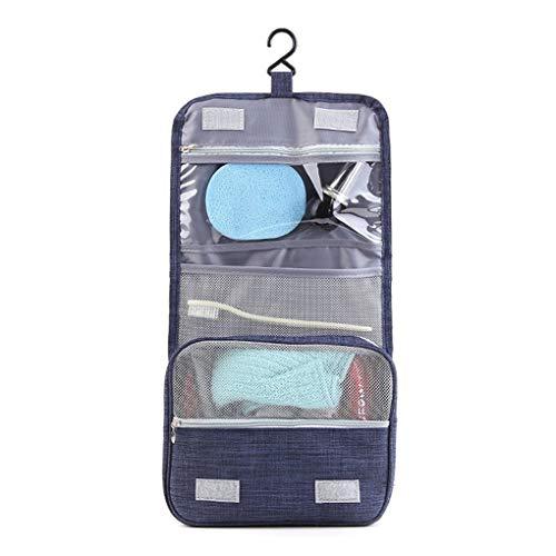 Andiker - Trousse da viaggio e borracce da viaggio in silicone, con gancio, impermeabile, portatile Blu Blu without bottles