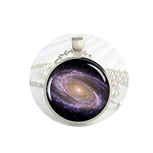 heng yuan tian cheng ruimte Galaxy hanger, de Messier Galaxy, Hubble telescoop beeld, hars ruimte bedel, hars hanger, foto hanger, ronde zilver