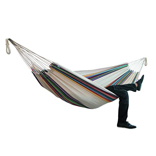 MIARHB Hammocks for Outside, Comfort Hammocks for Trees, Portable Striped Durable Camping Hammock Perfect for Indoor Outdoor Yard Garden Large Swing...
