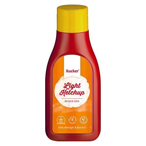 500 ml Xucker Light Ketchup (mit Erythrit) | Kochen, Backen & Würzen mit Xucker | Ohne Gentechnik | Vegan | 60 % weniger Kalorien als Ketchup