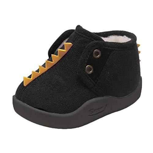 H.eternal(TM) Niño Niño Niño Niño Niño Niñas Dibujos Animados Invierno Cálido Botas Cortas Botines Zapatos Zapatillas Zapatillas Cuna Zapatos Invierno Cálido Botines, color Negro, talla 23 EU