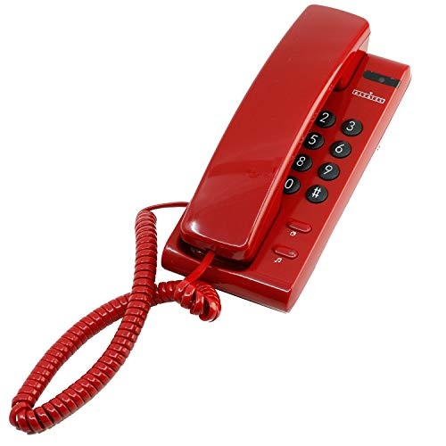 Teléfono ALCATEL Mod.2421 Sobremesa/Mural - Pulsos/Tonos - Color Rojo