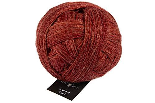 Schoppel Admiral Hanf Fb. 2371 Roter Ocker, Bio Sockenwolle zum Socken Stricken oder Häkeln