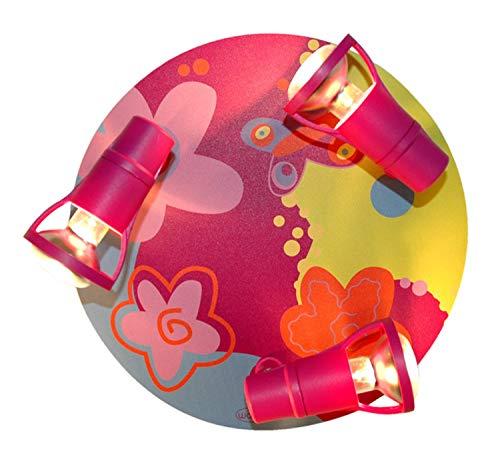 Waldi LED Deckenleuchte Bubblefly pink/bunt 3-flammig R50 E14 bis 40 Watt