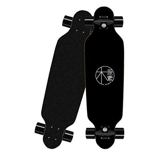 Deloito Longboard Straßen Skateboard 80cm Vierrädriges für Jungen Mädchen Skateboards Erwachsene Kinder Anfänger Bürsten Straßenbrett (B-09)