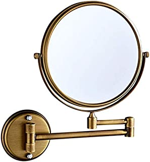 Makeup Vanity Mirror, Two-Sided Wall Mounted Beauty Mirror 3X Magnification Cosmetic Mirror 360° Swivel Extendable Bathroom Mirror,Antique_6inch,Bathroom