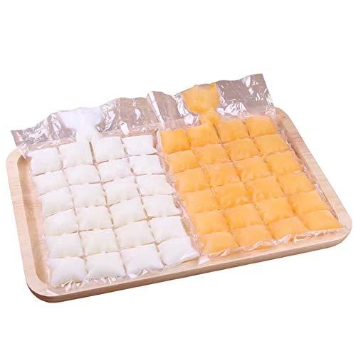 10pcs / pack Molde para cubitos de hielo Bolsas de cubitos de hielo autoadhesivas desechables Transparente Bolsa de molde para hacer hielo de congelación más rápida Gadgets de cocina-predeterminado