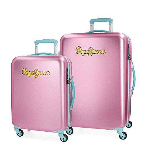 Pepe Jeans Bristol Juego de maletas Rosa 55/67 cms Rígida Cierre TSA...