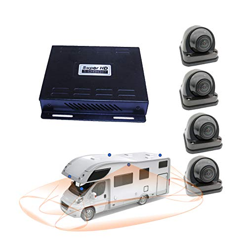 Weivision Hd 1080P 360 Degree Bird View Car DVR Recording Panoramic View All Round Rear View Camera for Bus Truck School Bus Fire Engine Touring Van Motor Caravan