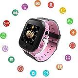 Smartwatch per bambini – GPS Tracker Smartwatches orologio da polso digitale telefono sveglia SOS...