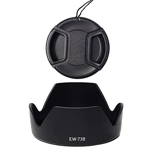 EW-73B paraluce e copriobiettivo da 67 mm, compatibile con Canon EF-S 17-85 mm f/4-5.6 IS USM, EF-S 18-135 mm f/3.5-5.6 IS Lens, sostituzione di Canon EW-73B (1+1)