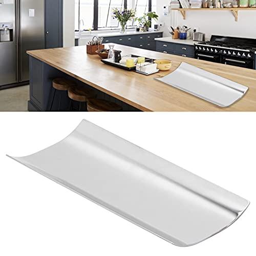 Aufbewahrungstablett, Edelstahl Leicht zu reinigendes Edelstahltablett Helle Oberfläche für Handtücher für Servietten
