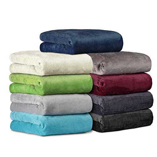 BaSaTex Cashmere Touch Spannbettlaken Spannbetttuch ähnlich Nicky, Teddy, Corals Fleece in 6 Größen und 9 Farben 180x200 bis 200x200 cm Grau