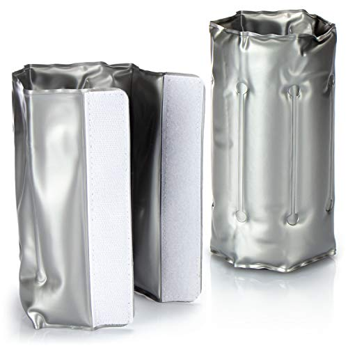 COM-FOUR® 2x Enfriador de botellas para llevar - funda enfriadora de vino con cierre rápido - funda enfriadora para enfriar cerveza, vino y refrescos - enfriador de champán (02 piezas - 30.5x18.5cm)