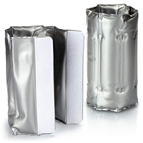 COM-FOUR® 2x Raffreddatore di bottiglie per gli spostamenti - manicotto di raffreddamento del vino con chiusura rapida - per raffreddare la birra, il vino e le bibite (02 pezzi - 30,5x18,5cm)