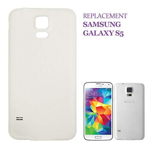 swark Tapa trasera compatible con Samsung Galaxy S5 G900F (blanco)