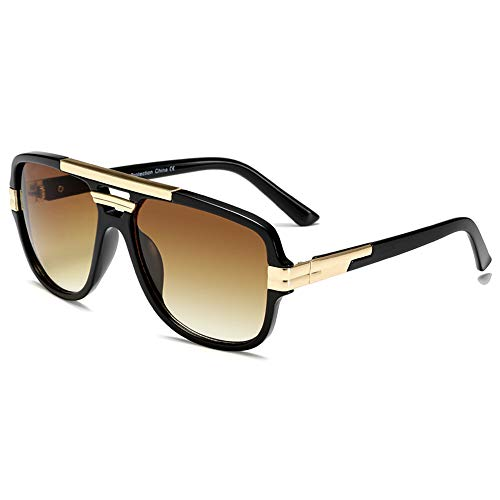 Sunglasses for Men Women Gold/ Black Gradient Evidence Aviator polarized Sunglasses with UV400 Shades