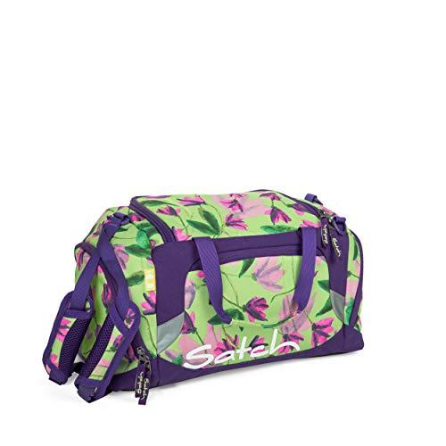Satch Sporttasche - 25l, Schuhfach, gepolsterte Schultergurte - Ivy Blossom - Grün