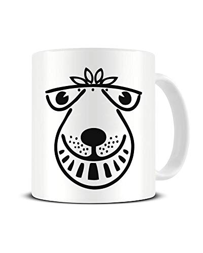 Cool Black on White Space Hopper Face Mug