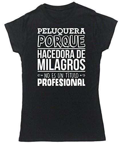 HippoWarehouse Peluquera Porque Hacedora de Milagros No Es Un Título Profesional camiseta manga corta ajustada para mujer