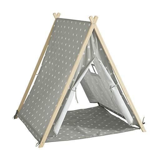 SoBuy OSS02-ST Spielzelt Zelt für Kinder mit 2 Türen und einem Fenster Spielhaus BHT ca.: 112x109x100cm