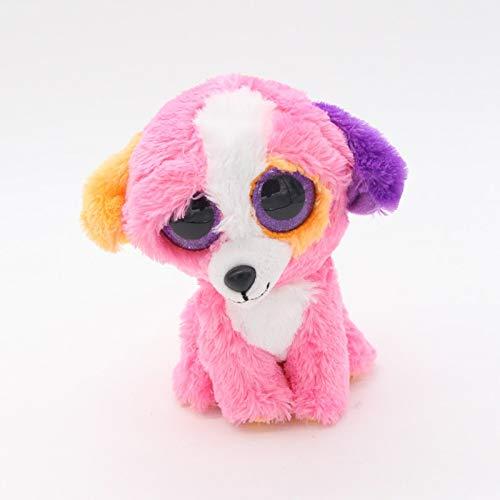 """Ty Beanie Boos Big Eyes 6"""" Plush Pink Labrador Dog Animal Toys -  Green Riverside"""