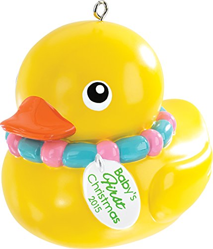 2015 Baby's First Christmas Rubber Ducky Carlton Ornament