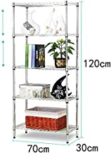Home Living Museum/Stainless Steel Kitchen Rack Floor Multi Layer Storage Rack Microwave Oven Rack Space Storage Shelf (Si...