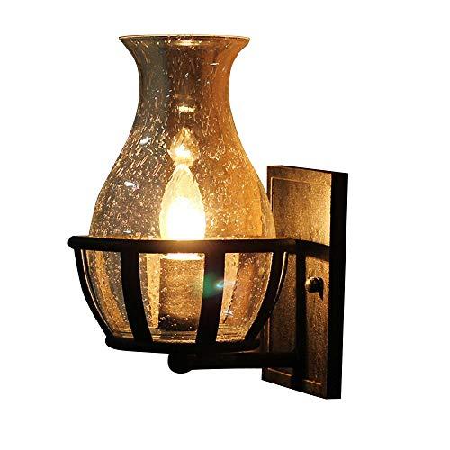 Wandlampen XL Retro rustieke helder glas vaas lampenkap voor veranda verlichting