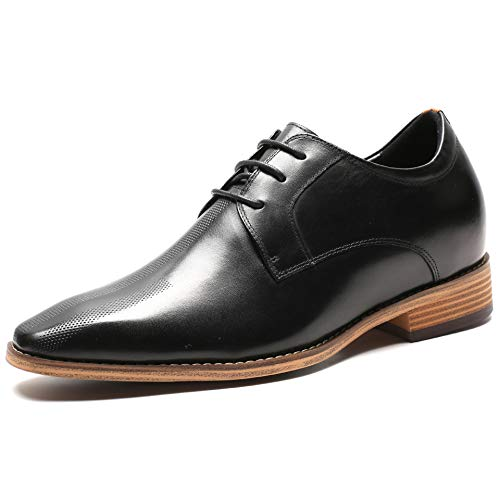 Faretti Elevator Shoes +7 cm Aufzug Anzug Lederschuhe Anzugschuhe Herren Business Leder Schuhe Größer Machen mit Versteckte Absatz Schuheinlagen Schuh Erhöhung Lift Schuhe I UBERTO I 43