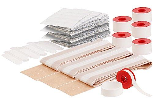 PEARL Wundpflaster: 309-teiliger medizinischer Pflaster-Mega-Pack, 6 Rollen Fixierpflaster (Pflastersortimente)