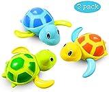 Comius Sharp Baby Badespielzeug, 3 Stück Schildkröte Kunststoff Badewanne Spielzeug,Baby Bade Bad Schwimmen Badewanne Pool Spielzeug, Bad Spielzeug Für Kleinkinder Jungen Mädchen. (A)