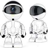 Indoor IP WiFi Camera with Phone App and 2-Way Audio, w/Night Vision 1080P Cloud Intelligent Robot Auto Tracking Wireless CCTV Security Surveillance System for Home, Business, Baby, Dog, Pet Monitor