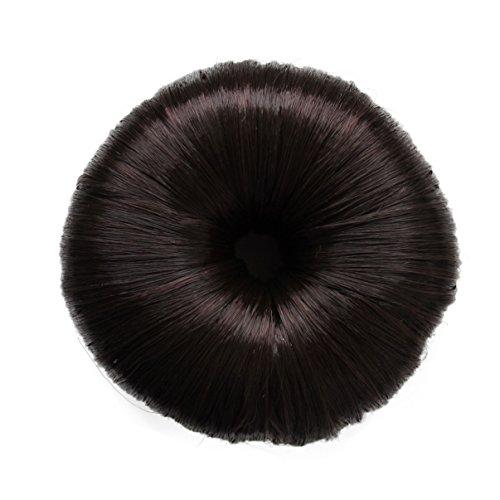 Knotenringe Knotenrolle Haarknoten Dutt Donut Bun Up Do Div. Farben (braun)