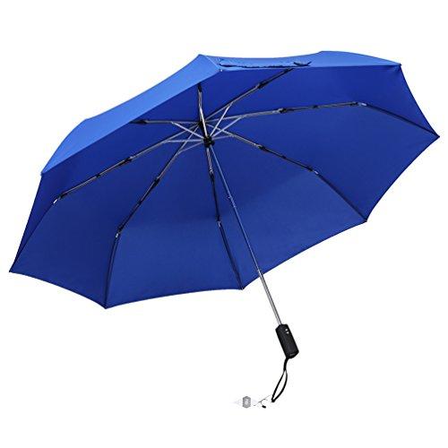 Lichtgewicht Teflon Travel Paraplu, Snelle droging, Versterkte Winddicht Frame, Auto Open/Auto, Slip-Proof Handvat voor gemakkelijk dragen