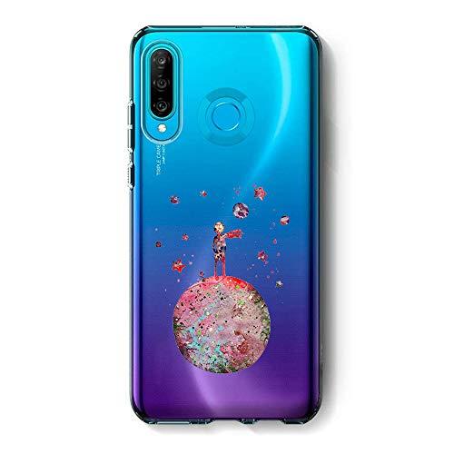 Alsoar Morbido Cover Compatibile per Huawei P30 Lite Cover Silicone Trasparente, TPU Ultra Hybrid Crystal Clear Cute Custodia con Protezione Sottile e Chiarezza Antiurto Bumper-Piccolo Principe